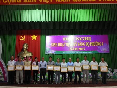 Đảng ủy phường 4 tổ chức sinh hoạt định kỳ năm 2017